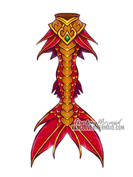 Chinese New Year Mermaid Tail by courtneymermaid