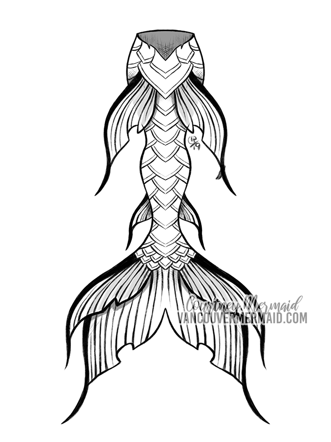 Mermaid Tail Commission 3 by courtneymermaid