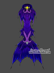 Sea Witch Mermaid Tail Design by courtneymermaid