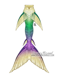 Lilly Pad Mermaid Tail by courtneymermaid