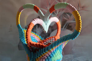Origami love by Catstrosity