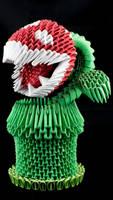 3D origami Piranha plant by Catstrosity