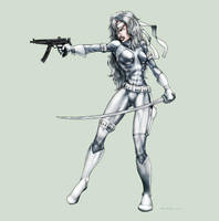 Silver Sable by Sgrum