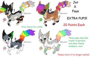 Jet X Faye - Extra Pups - CLOSED by SamsocksDraws