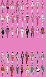 All Emma's Possible Ranger Modes by Dishdude87