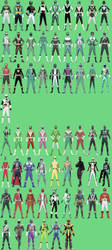 All Jake's Possible Ranger Modes by Dishdude87