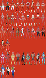 All Troy's Possible Ranger Modes by Dishdude87