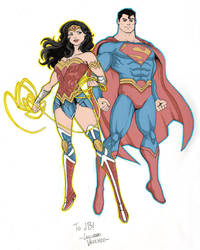 Wonder Woman And Superman Nycc Pre Show Commission by Dishdude87