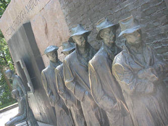 The Great Depression Soup Kitchen Line Sculpture by whitewolf2316