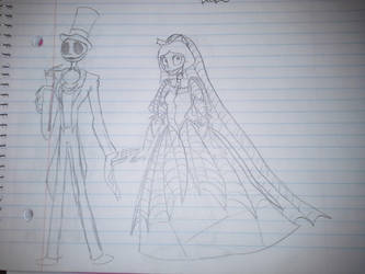 Rough Wedding Sketches (TNBC) by TessaLovesOzzy