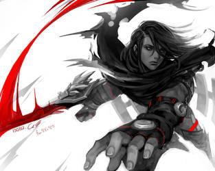 LOL fan art Dragonblade Talon by Angju
