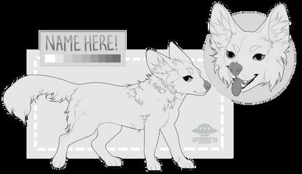 ( pay to use ) Bat-Eared Fox Lineart! by gloomyguts