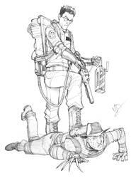 Egon Vs. Freddy by Max-Dunbar