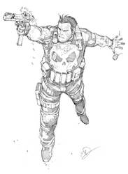 Punisher sketch by Max-Dunbar