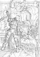 Monsters and Dames 2016 print Pencils by Max-Dunbar