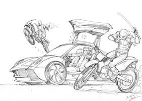 Biker ninjas must die by Max-Dunbar