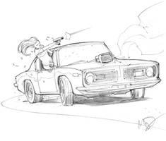 Car chase by Max-Dunbar