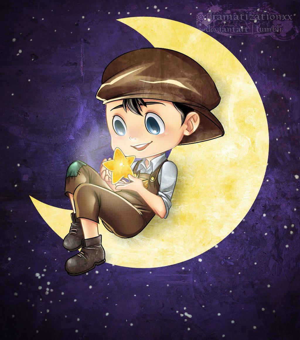 La luna e il bambino