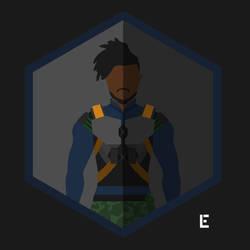 Erik Killmonger Character Icon by thelivingethan