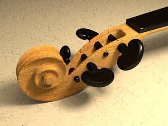 Violin WIP 002 by casteeld