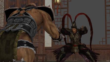 Lu Bu vs Astaroth 01 by espada9000
