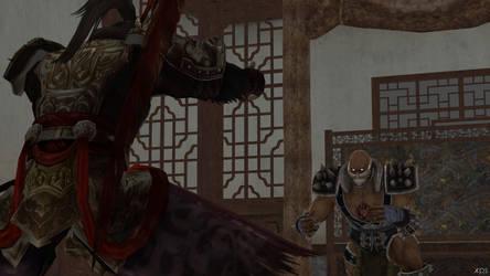 Lu Bu vs Astaroth 02 by espada9000