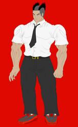 Charles Thurmond anime 03 (painting) by espada9000