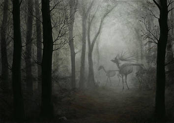 phantom deer by Apsaravis