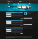 Web-design Blue by secretSWC