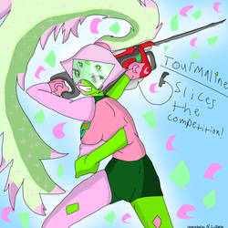 Tourmaline Slices the competition! by YoshiLuigiFan22