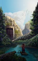 Mountain Gate by JustineZxy