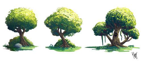 Tree Studies by JustineZxy