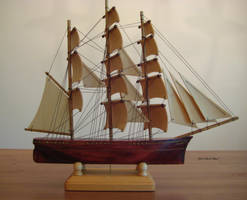 Hand Carved, Hand Made Clipper Ship Model #4 by mferraton