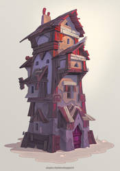 Purple House by Catell-Ruz