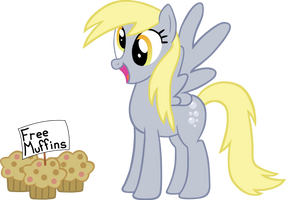 A Happy Derpy Hooves by TheJourneysEnd