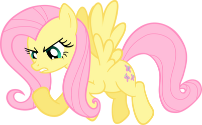 Angry Fluttershy Vector for Team 5 by TheJourneysEnd