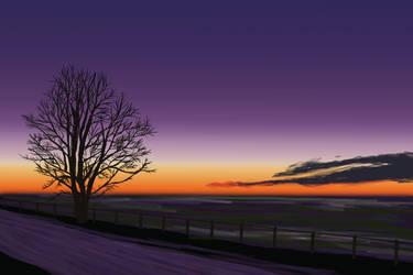 Prairie at sunrise by aevrynn