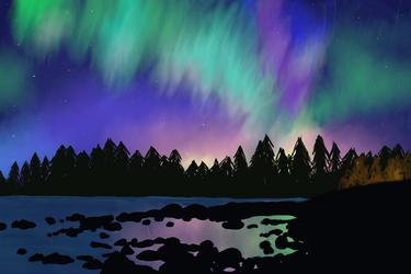 Northern lights by aevrynn