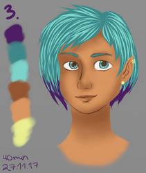 3 - elf with spunky hair by aevrynn