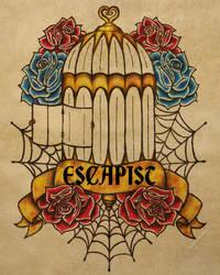 Escapist Tattoo Flash by BloodMoonEquinox