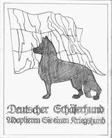 German Shepherd Poster :lineart: by BloodMoonEquinox