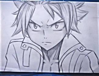 Natsu sketch by revinee