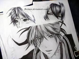 Black-white drawings by revinee