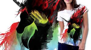 black unicorn by xon-xon