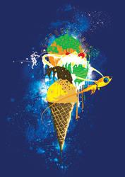 Spacecream-poster by xon-xon