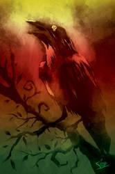 halloweek's crow poster by xon-xon