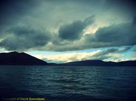 Lake Sevan during evening by davo83
