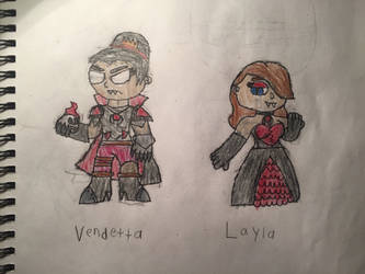 Vendetta and Layla by NamelessZea
