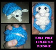 Roly Poly Armadillo Amigurumi by Lunarchik13