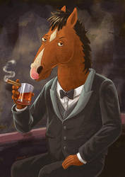 BoJack Horseman by spencertoons